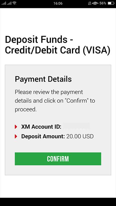 confirm deposit
