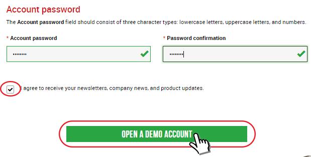 demo account password