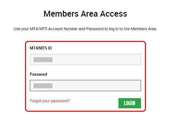 XM member login