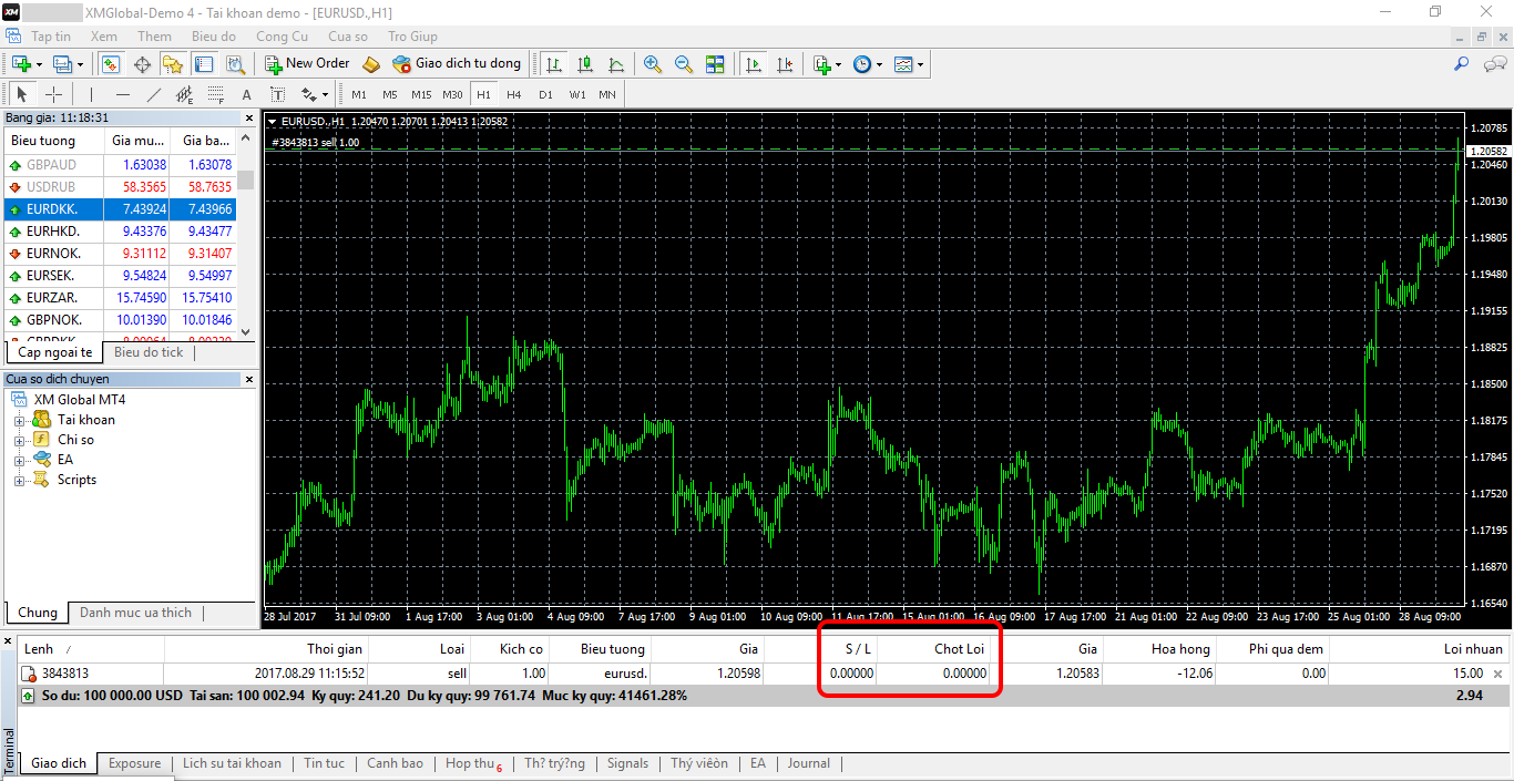 How to place stop loss order in forex